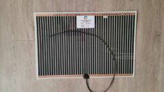 Zwarte Glaswebwinkel - Spiegelverwarming - 410 mm x 1000 mm - 76W