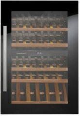 Zwarte Kuppersbusch Küppersbusch FWK2800.0S inbouw wijnkoeler met 2 temperatuurzones en UV werend glas