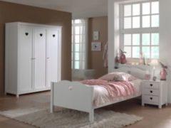 Vipack Furniture Vipack Set Amori bestehend aus: Einzelbett, Nachtkonsole und Kleiderschrank 3-trg.