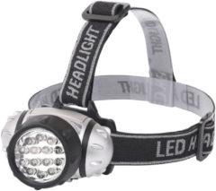 BES LED Led Hoofdlamp - Aigi Heady - Waterdicht - 35 Meter - Kantelbaar - 14 Led's - 1w - Zilver Vervangt 8w