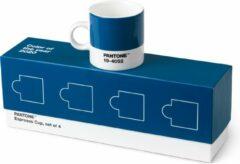 Pantone Universe Copenhagen Design Pantone - Espressobeker 120 ml Set van 4 Stuks - Blauw