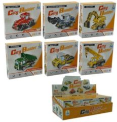 ARO toys Bouwvoertuigen 3D-puzzel mini 6 assorti