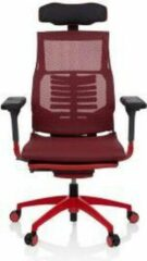 Hjh OFFICE Dynafit Elite - Racing directiestoel/bureaustoel - Rood - Netstof