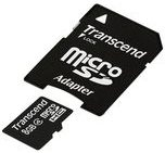 Transcend Speicherkarte microSDHC Card Transcend Schwarz