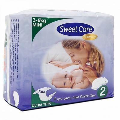 Afbeelding van Sweet Care SweetCare Premium Baby Ultradun Luiers - Maat 2 - 36 stuks