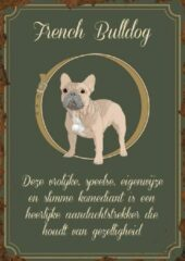 Donkergroene Signs of Time French Bulldog