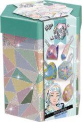 Paarse Totum Bling Bling - gipsset - diamanten en edelstenen gipshangers maken en beschilderen - in luxe bewaarkoker