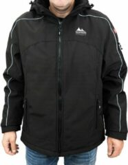 Norberg Nordberg outdoor heren winterjas softshell zwart maat XL