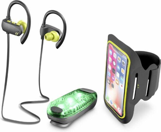 Afbeelding van Zwarte Cellularline BTGRASSHOPPEROUTK accessoire voor draagbare apparaten Groen, Grijs, Geel