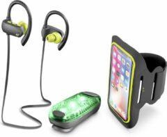 Zwarte Cellularline BTGRASSHOPPEROUTK accessoire voor draagbare apparaten Groen, Grijs, Geel