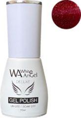 Rode Gellex White Angel Gellex Deluxe Gel Polish, gellak, gel nagellak, shellac - Glowing Red 109