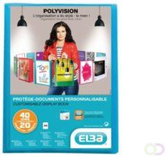 ELBA Showalbum Polyvision A4 Blauw Polypropyleen met lederstructuur 240 x 315 mm