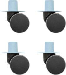 Blauwe Modu Zwenkwielen x4 - Blue