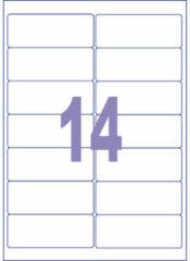 Witte Etiket ILK Kangaro 99,1x38,1mm - doos 25 vel 14 etiketten per v