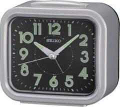 Zilveren Seiko wekker - QHK023S - electronisch bel - Grijs kunststof kast