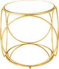 MiaVILLA Beistelltisch Tory, Metall;Glas