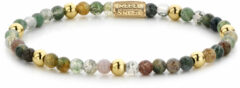 Rebel & Rose Rebel and Rose RR-40046-G Rekarmband Beads Indian Summer meerkleurig-goudkleurig 4 mm XS 15 cm