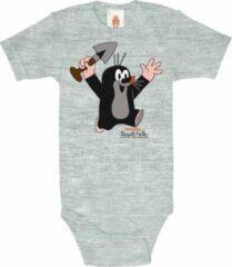 Licht-grijze Logoshirt Baby Rompertje 86