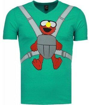 Afbeelding van Groene T-shirt Korte Mouw Mascherano Baby Bear - T-shirt