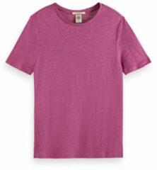 Roze Scotch & Soda T-shirt van linnen