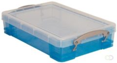 Merkloos / Sans marque Really Useful Box 4 liter transparant blauw