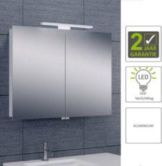 Boss & Wessing BWS LED Spiegelkast Luxe Aluminium 80x60x14 cm