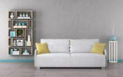 Baidani Designer Sofa m. Schlaffunktion Galway - hellgrau