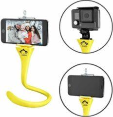 Monkeystick SELMONKEYY Selfie stick Yellow Bluetooth, incl. mobile phone holder