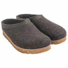 Haflinger Grizzly Torben - Pantoffels Dames - Pantoffels Heren - Graphit - Maat 40