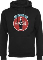 Zwarte Merchcode Coca Cola - International - Always Coca Cola - Logo - Bottle Legendary - Iconic- Sportswear - Urban - Casual - Modern - Streetwear Heren Hoodie Maat XL