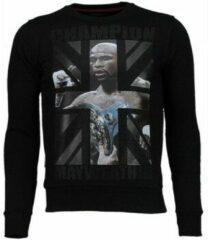 Zwarte Local Fanatic Mayweather - Rhinestone Sweater - Zwart - XXXL