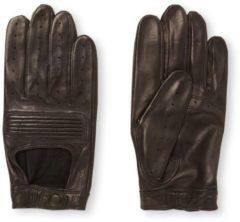 Zwarte Hestra Steve handschoen van schapenleer