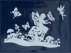 Witte Peha Stickerset Elfje En Vlinders 29,5 X 40 Cm 3-delig