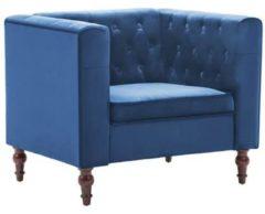 VidaXL Fauteuil 86x67x71 cm fluwelen bekleding blauw