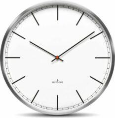 Witte Huygens klokken Huygens - One Index 45cm - RVS - Wandklok - Stil - Quartz uurwerk