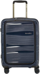 Marineblauwe Travelite Motion 4 Wheel Trolley S Frontpocket Navy