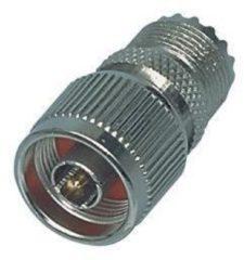 Valueline NC-304 N Mannelijk PL259 Female Zilver kabeladapter/verloopstukje