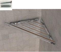 IBB Spa Angolare doccia BRIXIA Fissaggi a Viti e stop 32,7x16,10xh3,3cm in ABS Trasparente