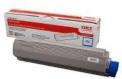 Blauwe OKI C810, C830 tonercartridge cyaan standard capacity 8.000 pagina s 1-pack