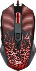Paarse Redragon M608 RGB Gaming Muis| Uniek Bliksem Design | 5 gebruikersprofielen | Verstelbaar DPI tot 3200 | Compatibel met Windows & Mac gaming mouse