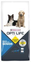 Opti Life Senior Medium-Maxi - Hondenvoer - 12.5 kg - Hondenvoer