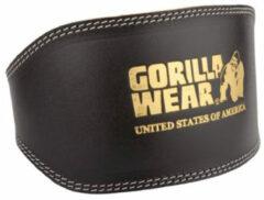 Bruine Gorilla Wear - Leren Sportriem - Halterriem - Mannen - XXL/XXXL