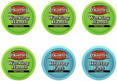 O'Keeffe's Working Hands & Healthy Feet: Hand & Foot Cream Jar Set - 6 pak