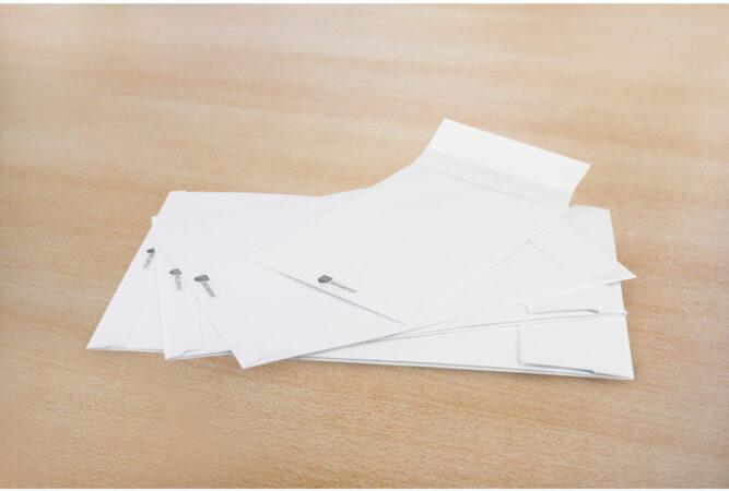 Afbeelding van Envelop Raadhuis Securitex B4 250x353x38mm wit krimp met 5 stuks