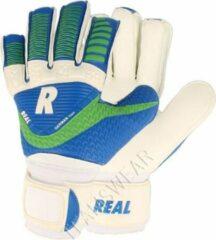Real Match Keepershandschoenen Kinderen - Wit / Royal / Groen | Maat: 4