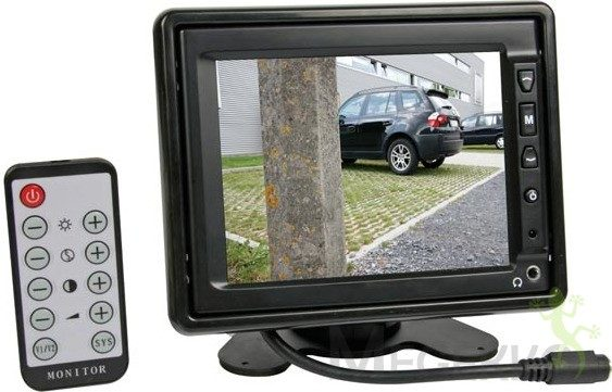 """Afbeelding van Zwarte Velleman """"""""""""5.6"""""""""""""""" TFT-LCD-MONITOR MET AFSTANDSBEDIENING"""""""""""""""