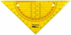 Geodriehoek Aristo GEOflex 14cm flexibel Neon oranje