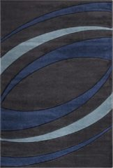 Impression Carpets Relax Basic Vloerkleed Antraciet / Blauw Laagpolig - 200x290 CM