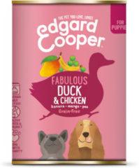 Edgard-Cooper Edgard&Cooper Blik Duck Chicken Puppy - Hondenvoer - Eend Kip Banaan 400 g Graanvrij