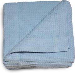 Damminga - Wafeldeken - Bedsprei - Zomerdeken - Hotelkwaliteit - 270 x 250 - Lits-jumeaux - Blauw